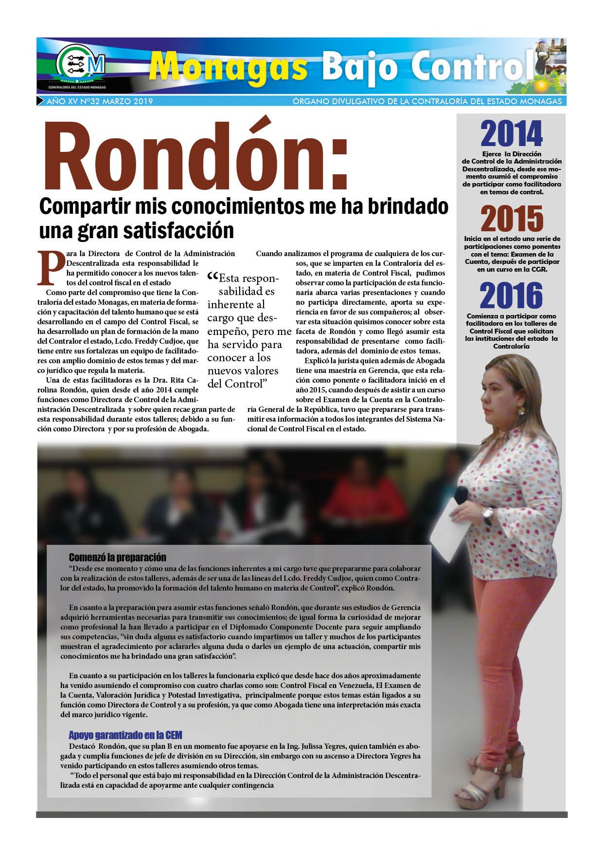 Monagas bajo control Febrero 2019 Pg 2a nn